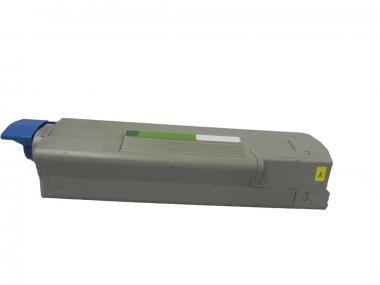 Toner Yellow 6000 S. OKI 43865721 kompatibel