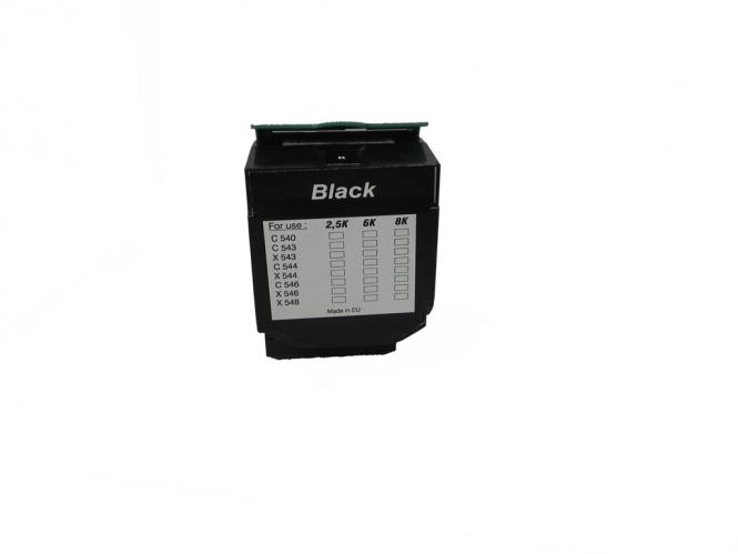 Toner Schwarz 2500 S. Lexmark 0C540H1KG kompatibel